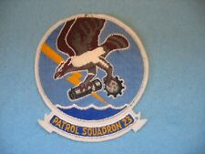 1950's unused US Navy Patrol Squadron 23 Seahawks jacket patch on wool.