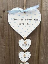 Personalised Plaque Sign New Home Family Gift Hearts Fathers Day Mum Birthday