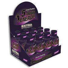 5 Hour Energy Shot Extra Strength Grape Flavor 24 Ct 1.93 oz Sugar Free