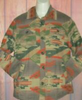 MENS AMERICAN EAGLE WESTERN TRIBAL LINED SHIRT JACKET SIZE S
