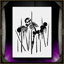 Spiked Skeleton 1 - Airbrush Stencil Template Airsick