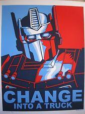 Change Into A Truck 2009 Silkscreen Art Print  Tim Doyle Transformers