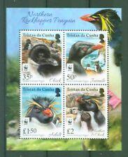 Tristan da Cunha 2017 - WWF Naturschutz Felsenpinguin Pinguin Penguin - Block 75