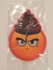 Custom Air Freshener Emoji Emoticon Poop Poophead Grumpy Fragrance Vanilla