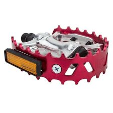 "VP XC II Beartrap BEAR TRAP Type 9/16"" ALLOY BMX PEDALS RED"