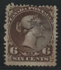 Canada Scott #27 Large Queen Stamp, Light Cancel, Sound