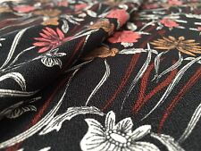 French Crepe - Black Dhalia - Dress Fabric