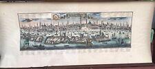 1857 Mappa Cartografia Antica veduta panoramica Venetia PROBST JOHANN FRIEDRICH