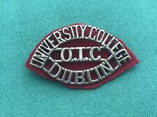 The University College Dublin OTC Shoulder Title ~ British Military Army Badge