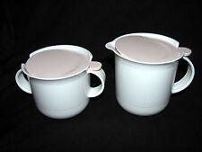Tupperware Ivory Rose Tabletop Cream & Sugar Set-Cream Pitcher & Sugar Bowl