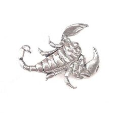 Scorpion Finely Handcrafted In Solid Pewter In Uk Lapel Pin Badge Ss03