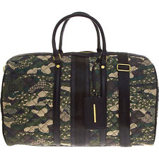 STEVE MADDEN Large Camo Quilted Weekender Holdall Travel Duffle Bag