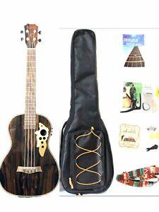 30'' All Blackwood Baritone Acoustic Electric Ukulele Left-handed Style