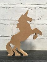 MDF 'RISING' UNICORN. FREE STANDING CRAFT BLANK.18MM THICK. 200MM HIGH. ORNAMENT