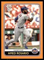 2020 Big League Base Orange #74 Amed Rosario - New York Mets