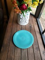 "1- Homer Laughlin China Fiesta Ware 9.5"" Turquoise / Teal Blue Plate Used"