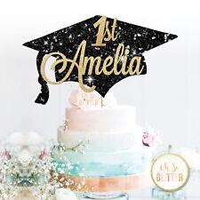 Custom LAUREA Cake Topper Glitter CAPPELLO LAUREA PER TORTA PERSONALIZZATA  1st 0cd7198c8446