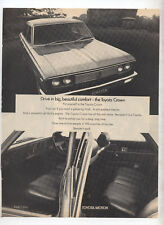 Early Toyota Crown Original Advertisement removed from magazine Drive in Comfort