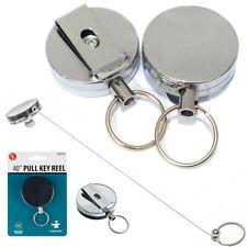 Heavy Duty Retractable Reel Badge Id Holder Belt Clip Nurse Clip Name Card Key !