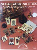 Homespun Elegance Counted Cross Stitch Pattern Chart Needle Case Pin Cushion