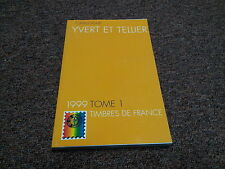 STAMP,  philatelic  FRENCH STAMPS, YVERT ET TELLIER, 1999 TOME 1