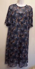 Marks & Spencer Collection UK16 EU44 US12 black chiffon floral two-piece dress
