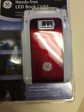 GE RED  LED Battery-Operated Hands-Free Booklight - 17280 SWIVELS with Lanyard