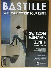 BASTILLE 2016 MÜNCHEN - orig.Concert Poster -- Konzert Plakat  A1 NEU