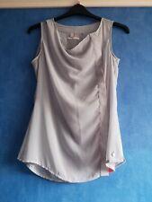 Esprit Ladies Beige Chiffon Size Buttoning Sleeveless Blouse Top Size 8