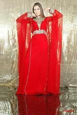 ELEGANT Moroccan Kaftan Long Maxi Dress Abaya Jilbab Islamic Kheleeji jalabiya78