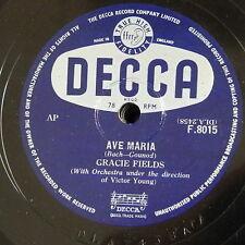 78 RPM Gracie campi Ave Maria/UN VECCHIO Violino