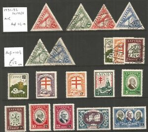 Latvia, mint and used selection ,lot 6