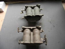 Johnson/Evinrude OMC outboard motor pair of V4 carburettors  Pno. 319671/322021