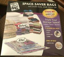 ORIGINAL SPACE BAG 11 BAGS 11 BAG SET INCLUDES 1 JUMBO SIZE BRAND NEW & SEALED