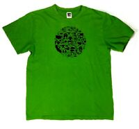 The North Face Mens M Short Sleeve Graphic Tee Brand Logo Green