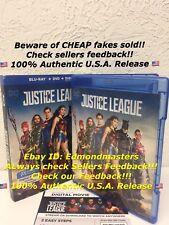 Justice League Blu-ray + Digital 2018 (NO DVD INCLUDED!!) Please Read Carefully!