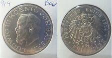 1914 Bavaria Germany Large Silver 5 Mark-Ludwig-Nice #2