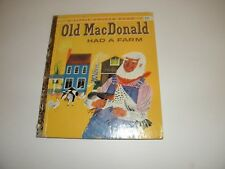 """Old MacDonald Had A Farm Little Golden Book #400 Moritz Kennel """"A"""" 1st Print VG-"""