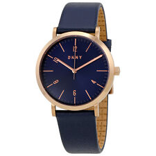 DKNY Minetta Blue Dial Ladies Leather Watch NY2614