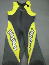 JetPilot Size L Unisex Black/Yellow One-Piece Sleeveless Water Suit 653