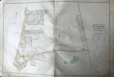 ORIG 1906 MELROSE MIDDLESEX COUNTY MA EAST SIDE 1ST BAPTIST CHURCH ATLAS MAP