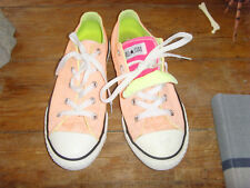 Sherbert Orange Converse youth size 3 and 4 odd pair of double tongue shoes