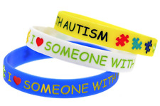 I LOVE SOMEONE WITH AUTISM Wristband Silicon