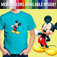 Mickey Mouse Wink Cartoon Cute Toddler Kids Tee Youth T-Shirt Walt Disney Mascot