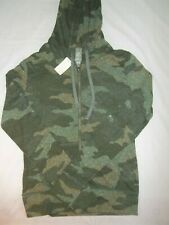 Aeropostale Women's Juniors Hoodie Size S Long Sleeve Green Camouflage NWT New