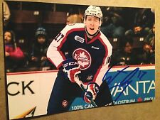 Logan Stanley SIGNED 4x6 photo WINDSOR SPITFIRES / WINNIPEG JETS #3