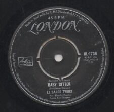 """THE LE GARDE TWINS   Rare 1960 Aust Only 7"""" OOP London Folk Single """"Baby Sitter"""""""