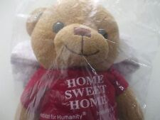 "Habitat for humanity 12"" bear   Home Sweet Home on red shirt, sealed in package"