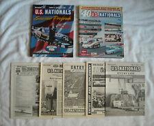 2 NHRA US Nationals Souvenir Programs 40th 43rd + 5 Entry List & Supplements