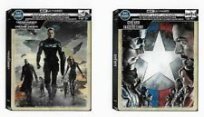 Captain America: Winter Soldier & Civil War SteelBooks [4K + Blu-ray + DC] *NEW*